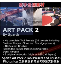 Sparth Art Pack 2 Photoshop工具预设和笔刷PSD源文件素材