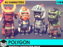 Unity3D卡通人物角色模型POLYGON MINI - Fantasy Character Pack