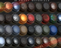 Substance Painter Smart Materials 智能材质/破旧金属皮革木材